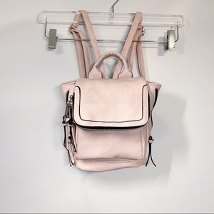 Handbags - Pink Faux Leather Backpack